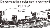 Safeway black and white Rendering