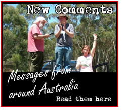 Letters we've received from around Australia. Click for details